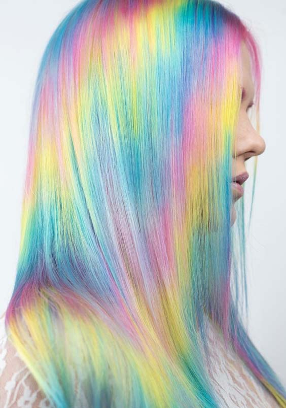 16 Amazing Pastel Rainbow Hair Color Trends For 2018