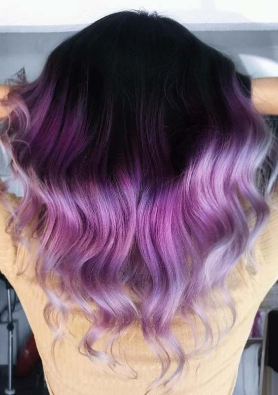 30 Amazing Purple Hair Color Shades to Try in 2018