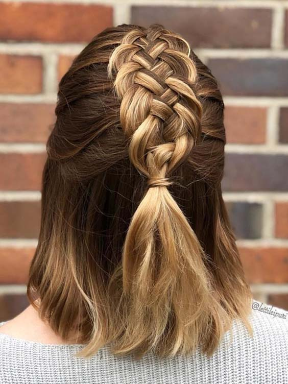 21 Beautiful Braids for Short to Medium Hair in 2018