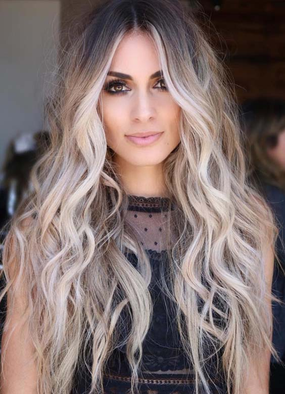 60 Best Blonde Balayage Highlights for Long Wavy Looks in 2018