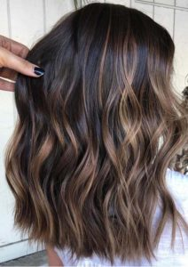 Bold Brunette Balayage Hair Color Highlights in 2021