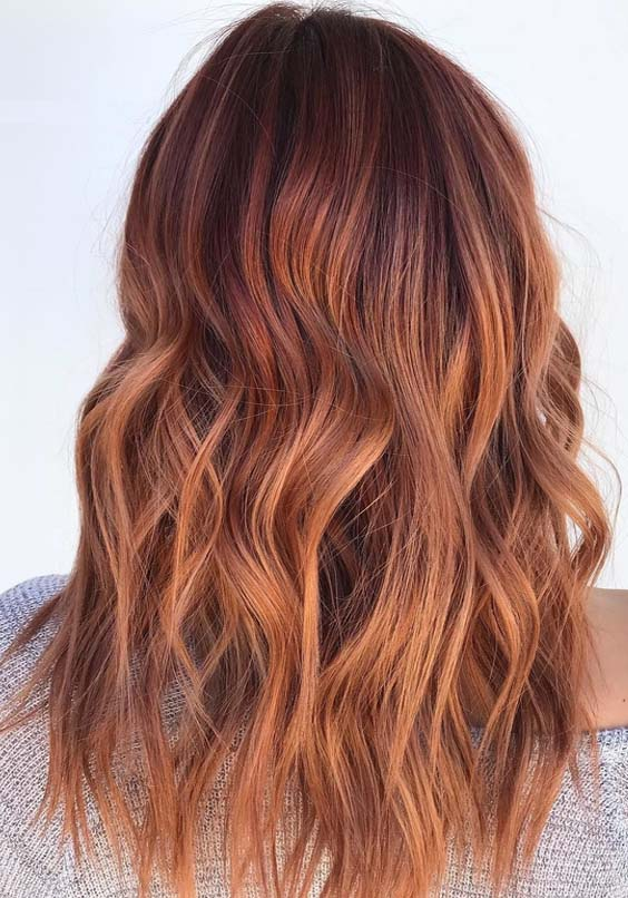 20 Best Copper Red Hair Colors & Hairstyles for 2018