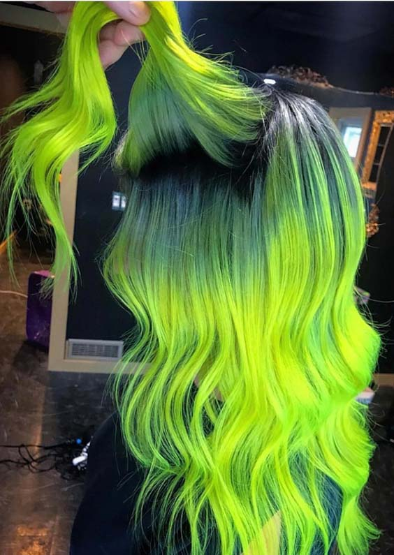 40 Crazy Neon Hair Color Ideas for Bold Women 2018