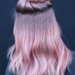 Fabulous Top Knot Bun with Pink Hairstyles in 2021