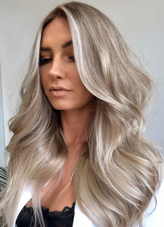 24 Fantastic Silver Ash Blonde Hair Color Trends for 2018
