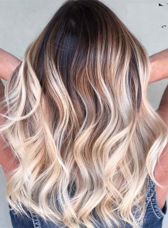 60 Fantastic Blonde Balayage Highlights to Sport in 2018