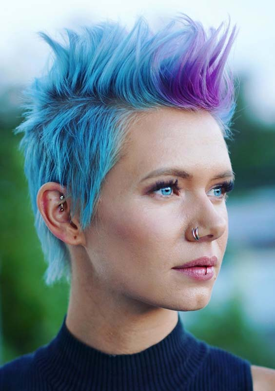 51 Fantastic Blue Pixie Cuts for Short Hair to Wear in 2018