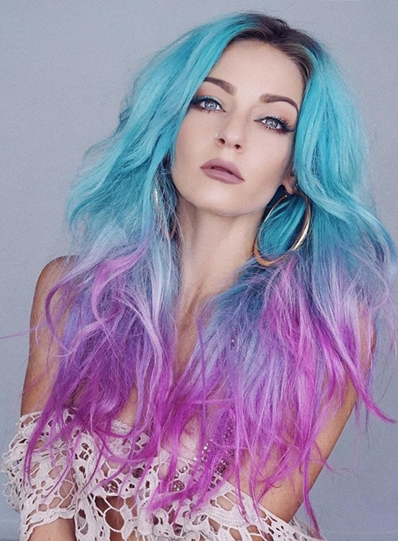 28 Favorite Mermaid Hair Color Styles for Women 2018