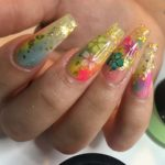 Flowers & Glitters Nail Designs for 2018