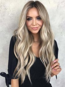 Gorgeous Blonde with Brown Highlights in 2021