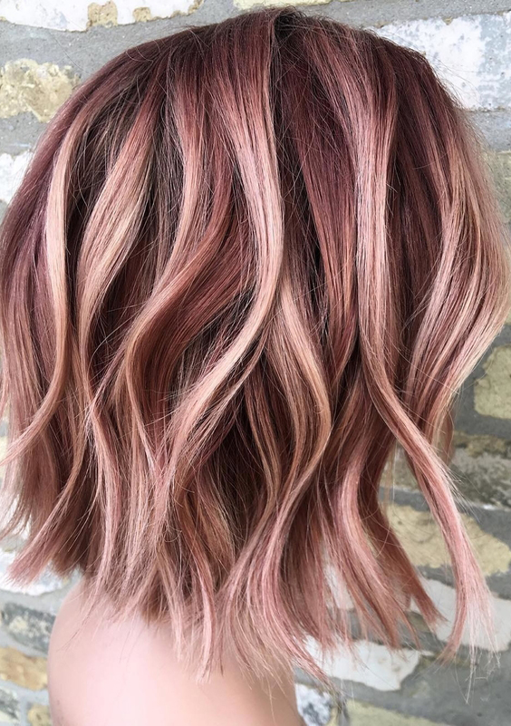 32 Gorgeous Rose Gold Hair Color Ideas for 2018