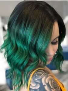 Green Ombre Hair Color Trends for 2018