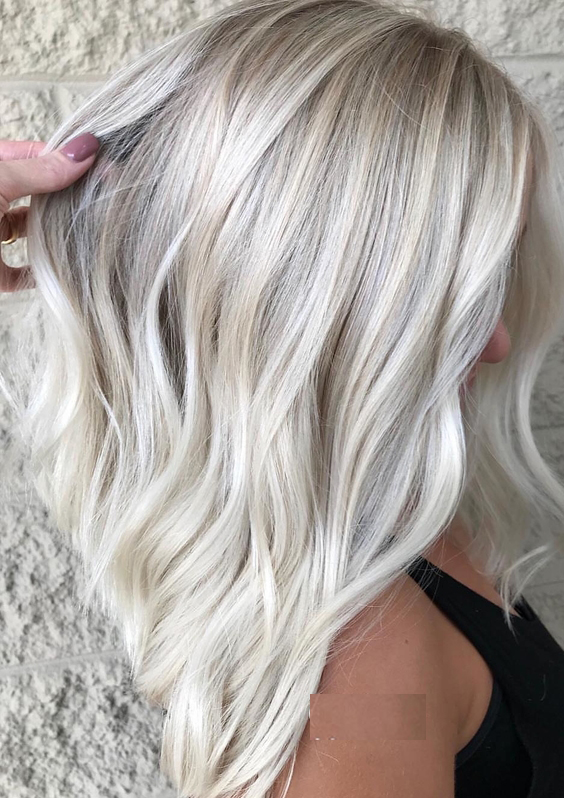 65 Gorgeous Ice Blonde Hair Color Trends for 2018