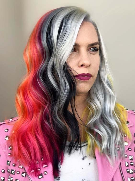 32 Incredible Hair Color Blocking for Ladies in 2018
