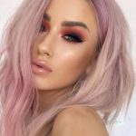 Light Pink Hair Looks & Makeup Ideas for 2018