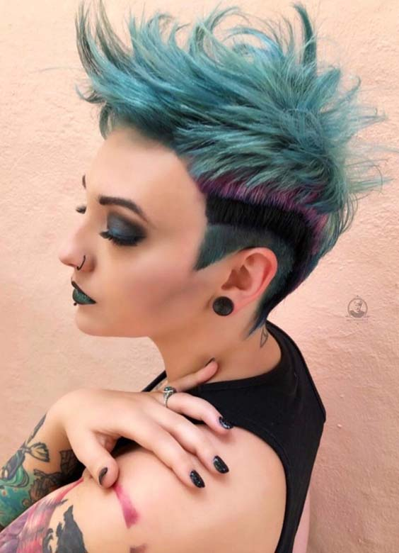 38 Modern Blue Pixie Haircuts & Hairstyles for 2018