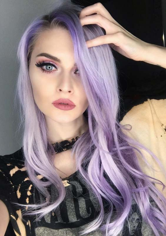 46 Gorgeous Pastel Lavender Hair Color Styles For 2018