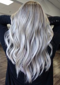 Platinum Balayage Hair Color Ideas in 2018
