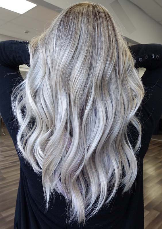 15 Fabulous Platinum Balayage Hair Color Ideas in 2021