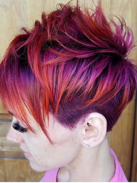 24 Gorgeous Purple Hair Colors for Short Hair 2018