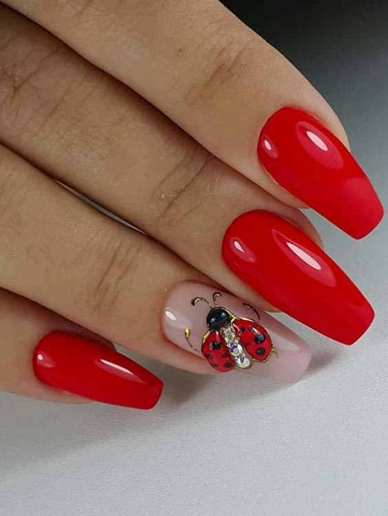 37 Modern Red Nail Arts and Designs for 2018