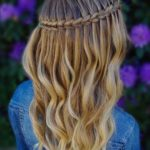 Scissor Waterfall Braid & Curls for 2018