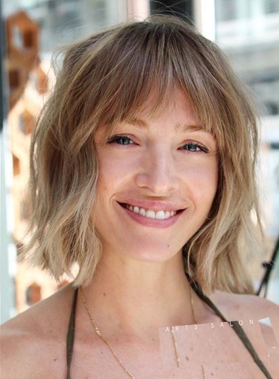 29 Stylish Shaggy Bob Haircuts with Bangs for 2018