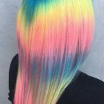 Shine Line Rainbow Hairstyles & Hair Color Trends for 2021