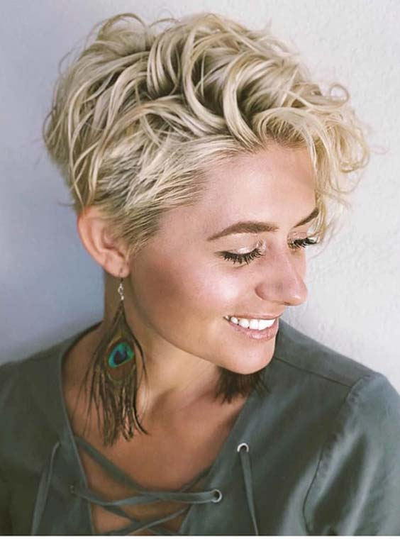 46 Best Short Curly Blonde Haircuts for 2018