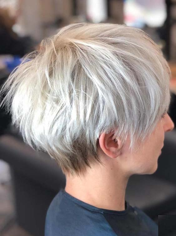 48 Cute Short Pixie Blonde Haircuts for Women 2018