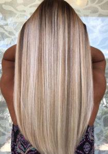 Sleek Straight Balayage Hairstyles for 2018