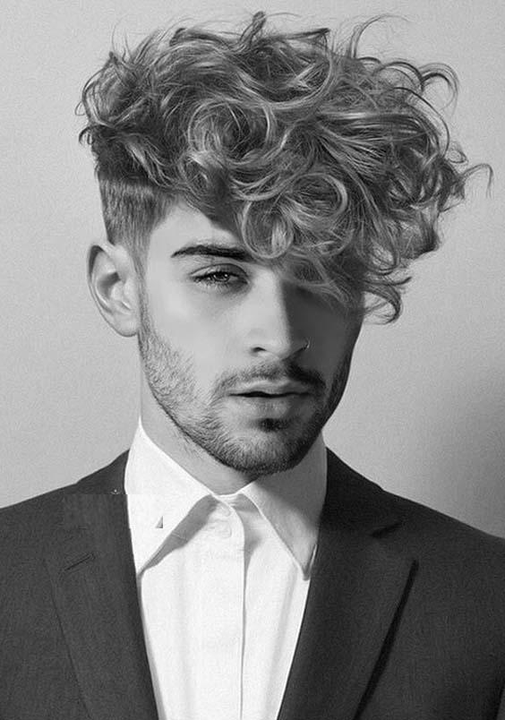 Medium Short Curly Hairstyles Men 66