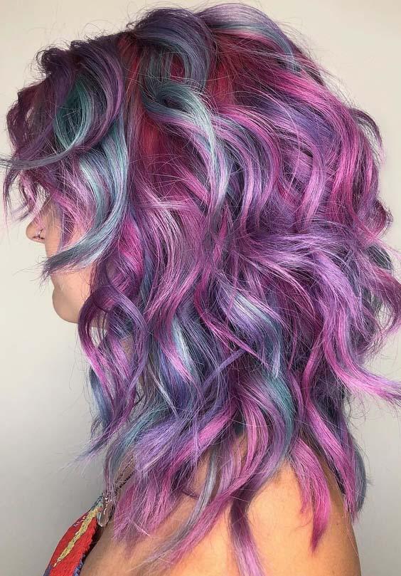 45 Vibrant Pastel Hair Color Ideas for Women 2018