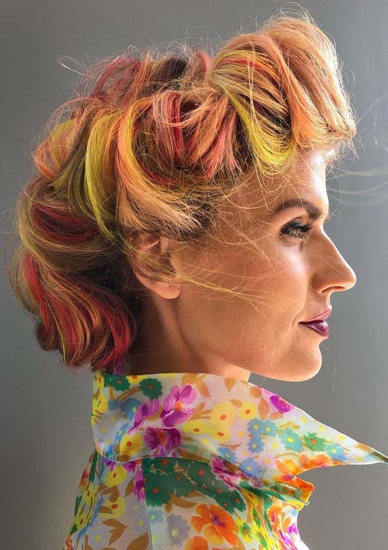 46 Best Vintage Vivid Hair Colors & Upod Style in 2018