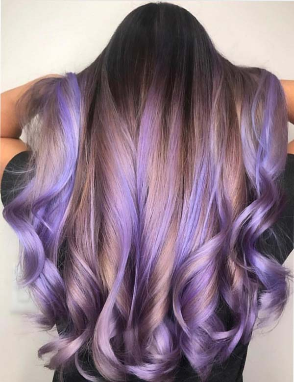 Most Beautiful Lavender Balayage Hair Color Shades for 2018