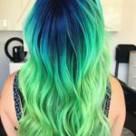 Blue & Green Hair Color Styles for 2018