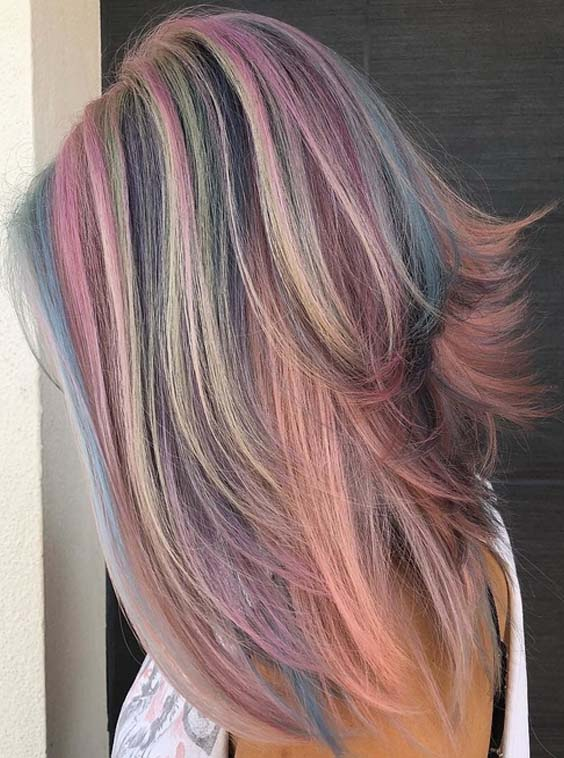Cute Cotton Candy Hairstyles & Hair Color Ideas for 2018
