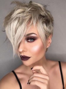Cute Blonde Pixie Haircuts for Women 2018