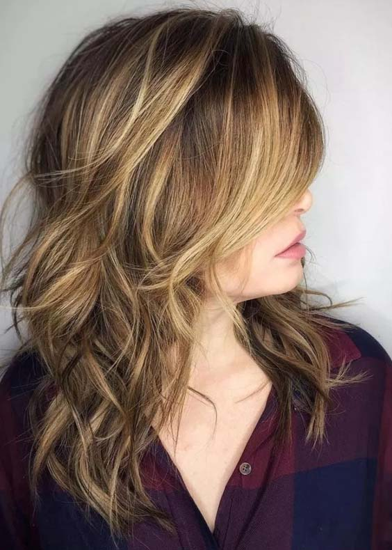 Effortless Long Shag Hairstyles Trends for Women 2018