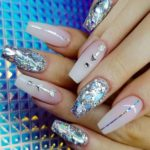 Faded French Glitter Nail Art Designs in 2021
