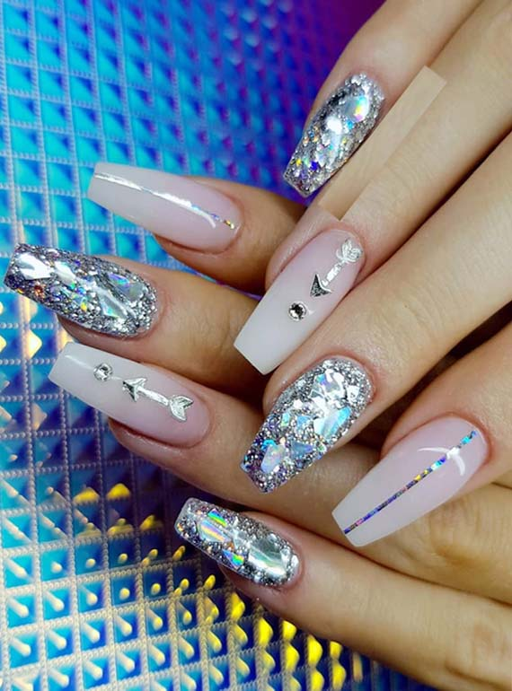 Most Beautiful Faded French Glitter Nail Art Designs in 2018