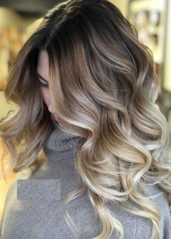 Gorgeous Balayage Ombre Hair Color Contrasts In 2018