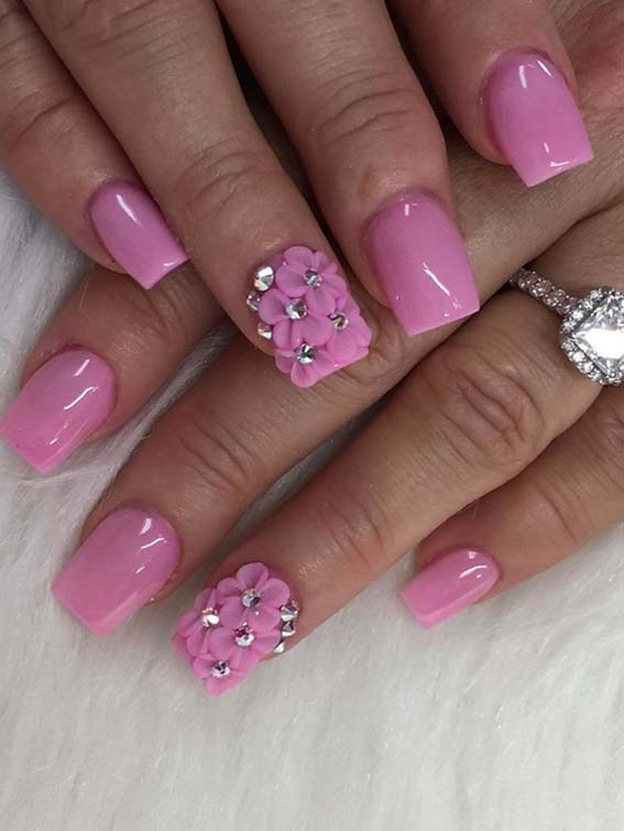 Gorgeous Pink Nail Art Designs and Images in 2018