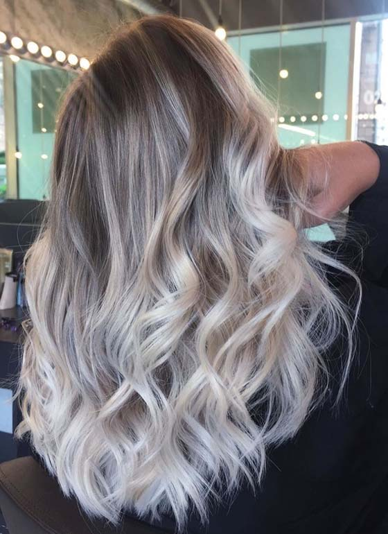 Latest Ice Blonde Balayage Hair Color Trends for 2018