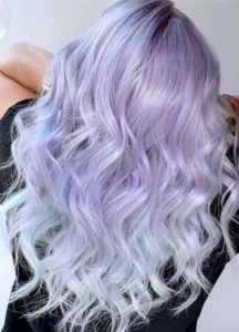 Lavender Ice Blonde Hair Color Ideas for 2018