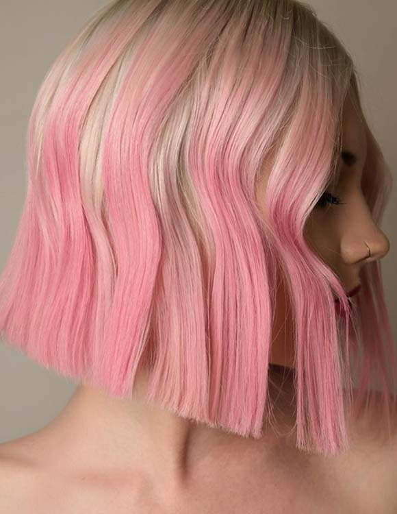 Alluring Pink Bob Haircuts and Hairstyles for 2021