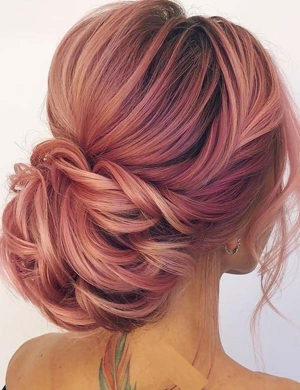 Gorgeous Pink Lemonade Updo Hairstyles to Try in 2018