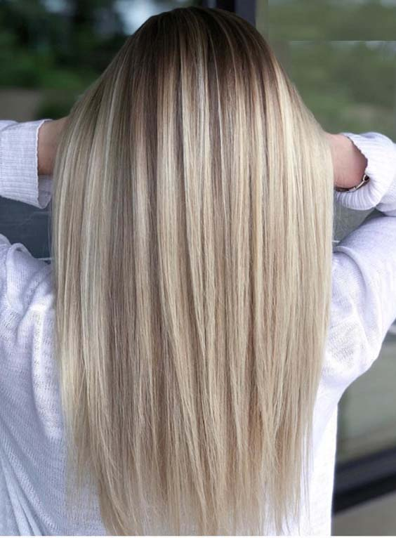 Modern Looking Straight Blonde Hair Styles for 2018