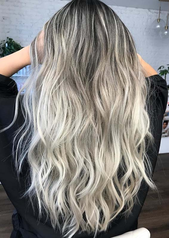 Gorgeous Ash Blonde Hair Color Highlights for Long Hair in 2018