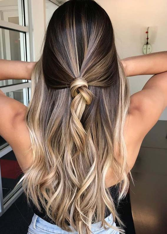 Awesome Balayage Knot Hairstyles Trends for 2021